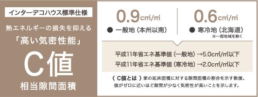 「高い気密性能」C値 相当隙間面積